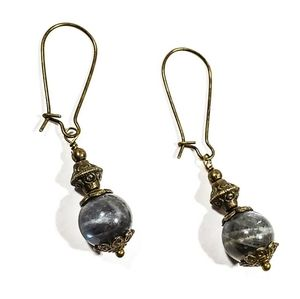 Jewelry - Labradorite and Bronze Drop Earrings